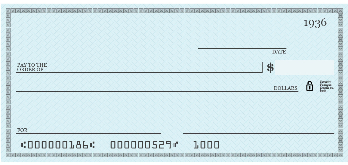 How to write a Check Taylor Marek – Blank Cheque Template